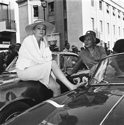 Anita Ekberg al Rally del cinema a Messina nel 1958