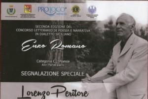 Lorenzo Peritore Mistretta Premio Enzo Romano