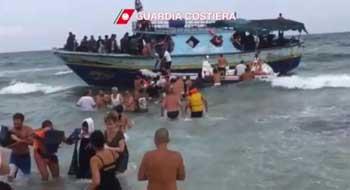 Pachino sbarco immigrati