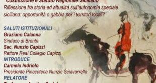 """Pinacoteca di Bronte: """"Costituzione e Statuto Regionale Siciliano"""""""