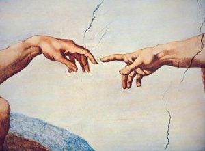 michelangelo-the-hands-of-god-and-man